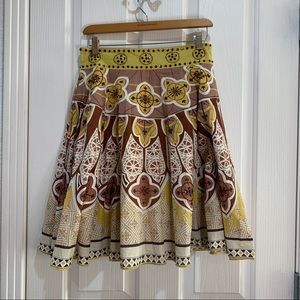 Anthropologie New Full Pleated Skirt Small NWOT